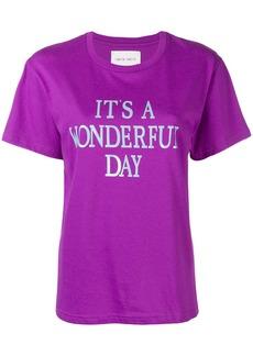 Alberta Ferretti It's a Wonderful Day T-shirt - Pink & Purple