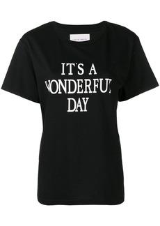 Alberta Ferretti It's a Wonderful Day T-shirt - Black