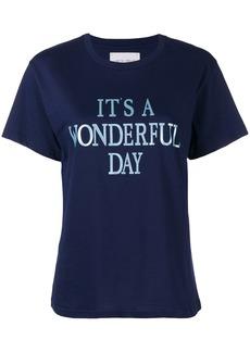 Alberta Ferretti It's a Wonderfull Day T-shirt - Blue