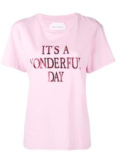 Alberta Ferretti It's a Wonderfull Day T-shirt - Pink & Purple