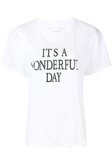 Alberta Ferretti It's a Wonderfull Day T-shirt - White