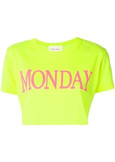 Alberta Ferretti Monday cropped T-shirt - Yellow & Orange