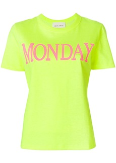 Alberta Ferretti Monday print T-shirt - Yellow & Orange