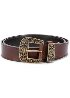 Alberta Ferretti ornate buckle belt - Brown