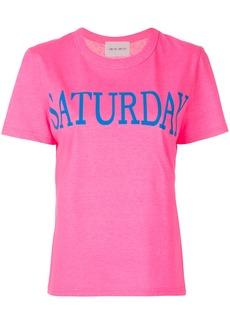 Alberta Ferretti Saturday print T-shirt - Pink & Purple