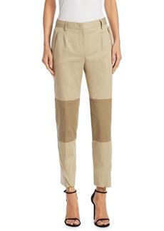 Alberta Ferretti Skinny Zip-Hem Trousers