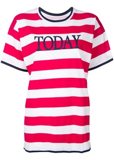 Alberta Ferretti striped T-shirt - Red