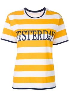Alberta Ferretti striped T-shirt - Yellow & Orange