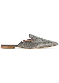 Alberta Ferretti studded pointed slippers - Metallic