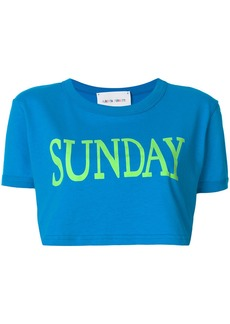 Alberta Ferretti Sunday cropped T-shirt - Blue