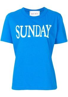 Alberta Ferretti Sunday print T-shirt - Blue