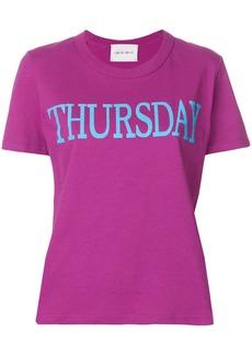 Alberta Ferretti Thursday print T-shirt - Pink & Purple
