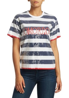 Alberta Ferretti Today Stripe Cropped Tee