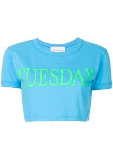 Alberta Ferretti Tuesday crop top - Blue
