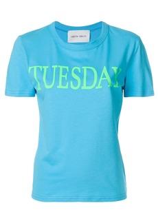 Alberta Ferretti Tuesday print T-shirt - Blue