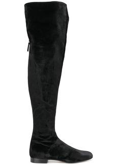 Alberta Ferretti velvet over-the-knee boots - Black