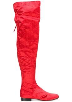 Alberta Ferretti velvet over-the-knee boots - Red