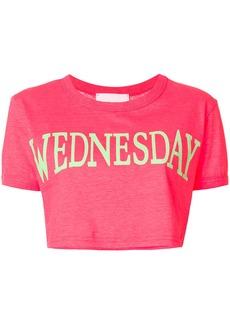 Alberta Ferretti Wednesday cropped T-shirt - Pink & Purple