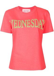 Alberta Ferretti Wednesday print T-shirt - Pink & Purple
