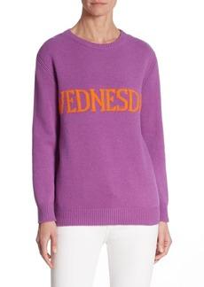 Alberta Ferretti Wednesday Wool & Cashmere Sweater