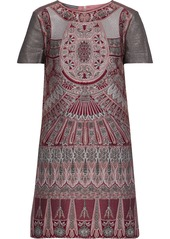 Alberta Ferretti Woman Brocade Mini Dress Claret