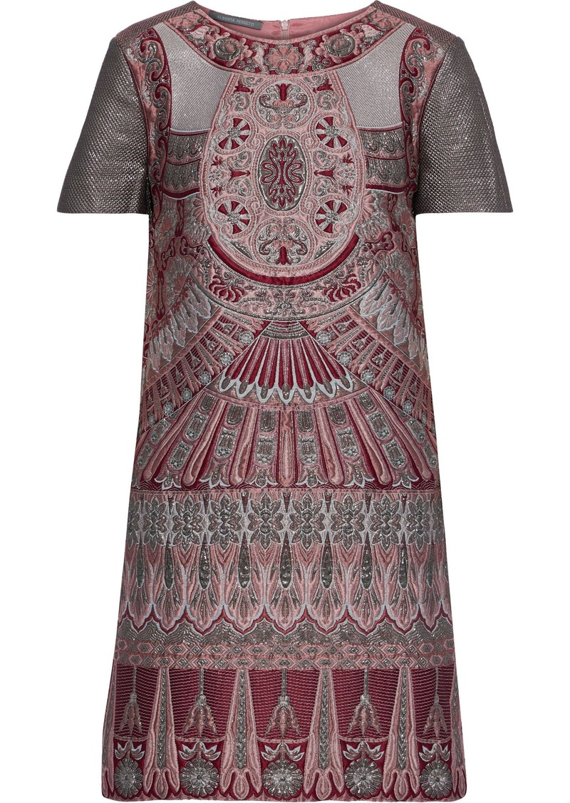 Alberta Ferretti Woman Brocade Mini Dress Claret