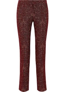 Alberta Ferretti Woman Brocade Slim-leg Pants Brick