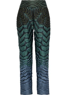Alberta Ferretti Woman Brocade Straight-leg Pants Multicolor
