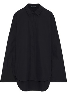 Alberta Ferretti Woman Cotton-poplin Tunic Black