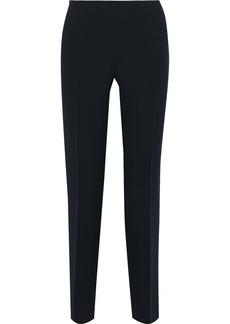 Alberta Ferretti Woman Crepe Slim-leg Pants Navy
