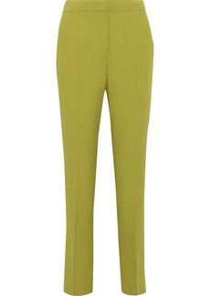 Alberta Ferretti Woman Crepe Straight-leg Pants Lime Green