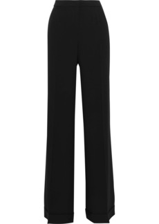 Alberta Ferretti Woman Crepe Wide-leg Pants Black