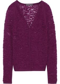 Alberta Ferretti Woman Crochet-knit Wool Top Plum