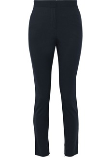 Alberta Ferretti Woman Cropped Twill Slim-leg Pants Navy