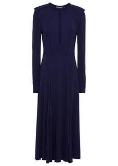 Alberta Ferretti Woman Cutout Jersey Midi Dress Navy