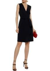 Alberta Ferretti Woman Draped Cady Mini Dress Black