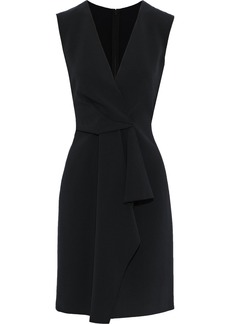 Alberta Ferretti Woman Draped Cady Mini Dress Black