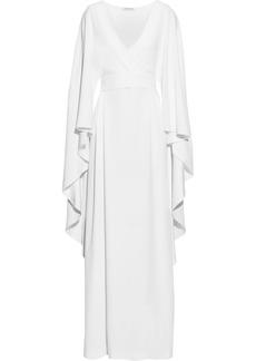 Alberta Ferretti Woman Draped Crepe Wrap Gown White