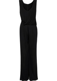Alberta Ferretti Woman Draped Jersey Jumpsuit Black