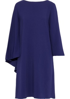 Alberta Ferretti Woman Draped Stretch-crepe Dress Indigo