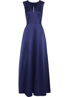 Alberta Ferretti Woman Duchesse Silk-satin Gown Indigo