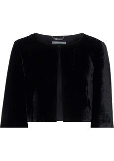Alberta Ferretti Woman Velvet Bolero Black