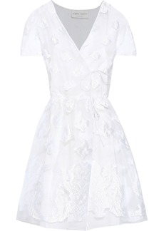 Alberta Ferretti Woman Fil Coupé Organza Wrap Dress White