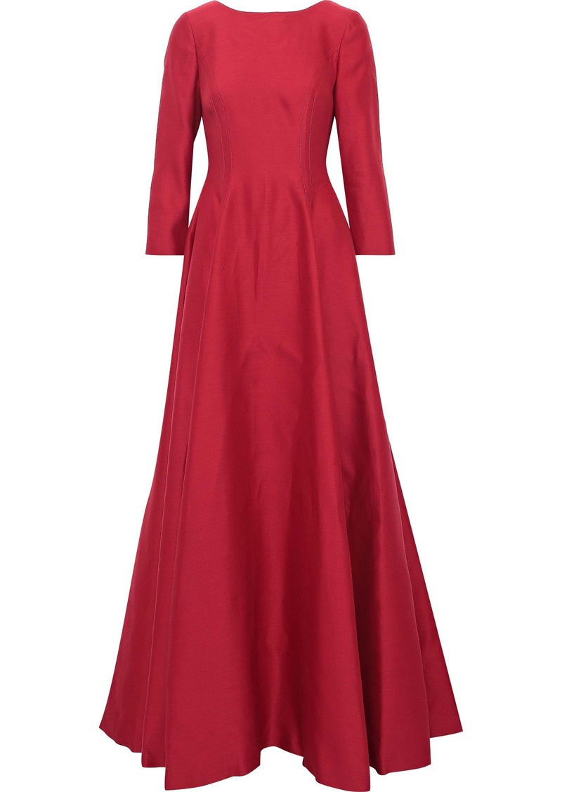 Alberta Ferretti Woman Flared Sateen Gown Crimson