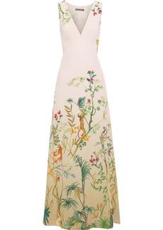 Alberta Ferretti Woman Printed Silk Crepe De Chine Gown Cream