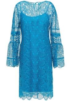 Alberta Ferretti Woman Guipure Lace Dress Azure