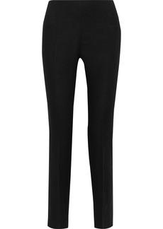 Alberta Ferretti Woman Linen Slim-leg Pants Black