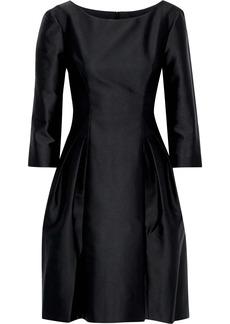 Alberta Ferretti Woman Pleated Satin Dress Black