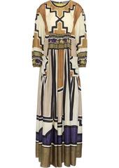 Alberta Ferretti Woman Printed Silk Maxi Dress Multicolor