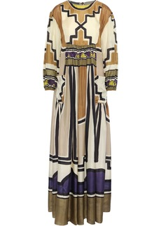 Alberta Ferretti Woman Printed Silk Maxi Dress Multicolor